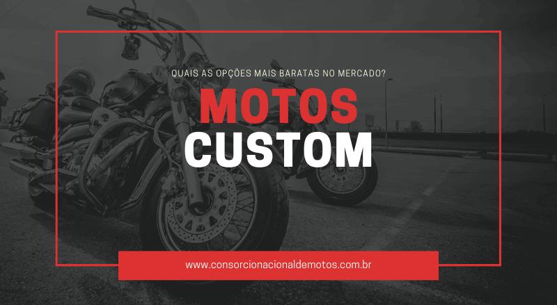 motos custom baratas